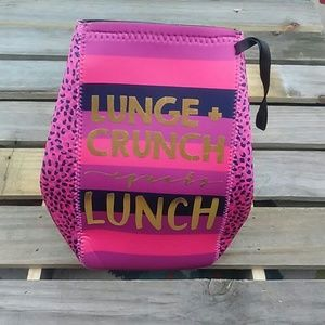 Handbags - NWOT Lunch bag Pink and purple with Gold letters